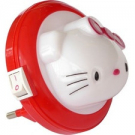 M8030L LED MINI NOCNA LAMPA BELA KITTY 0,4W LED